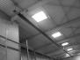 Hala magazynowa: instalacja gazowa, ogrzewanie promiennikowe – promienniki gazowe